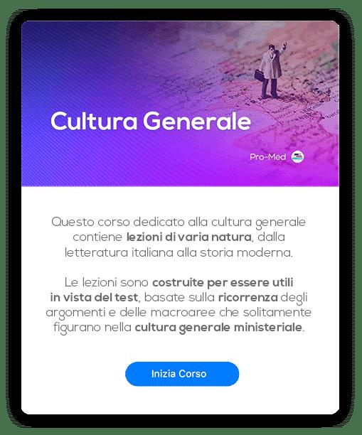 Card Cultura Generale