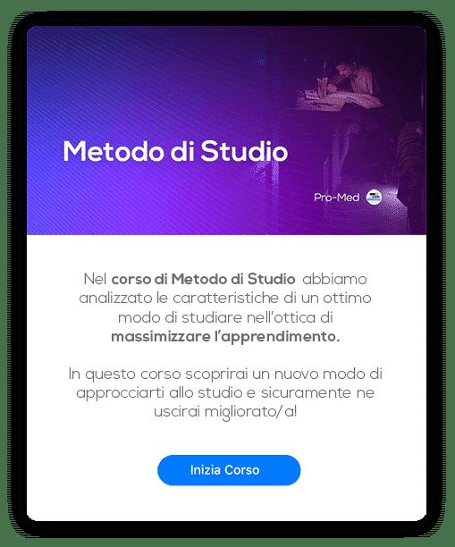 Card Metodo di Studio